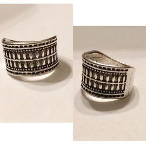 Rustic silver bohemian ring